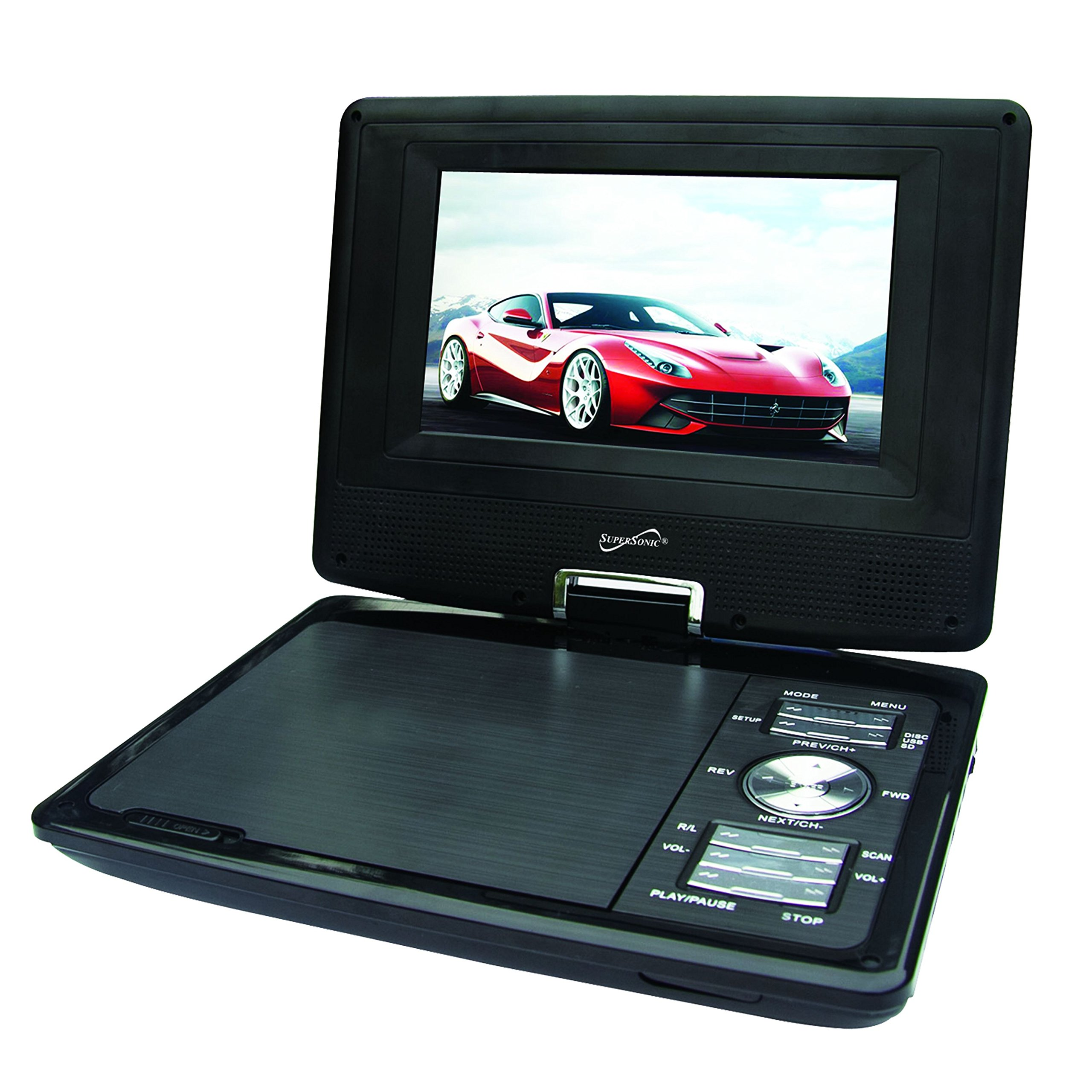 "Supersonic Sc-257 Portable Dvd Player - 7"" Display - 480 ..."