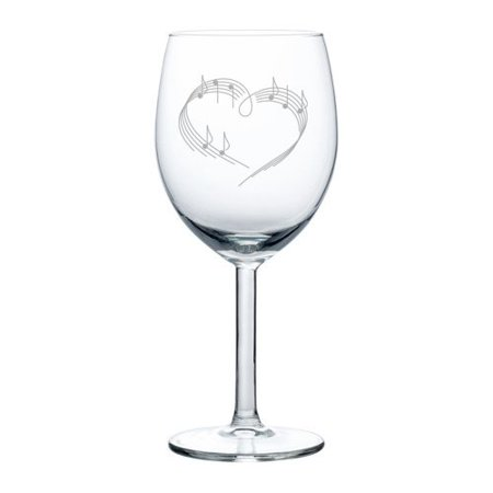 Wine Glass Goblet Heart Love Music Notes (10 oz)](Glass Hearts)