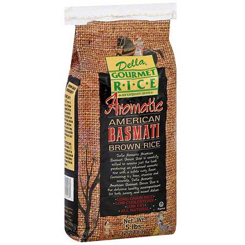 Della Gourmet Aromatic American Basmati Brown Rice, 5 lb (Pack of 4)