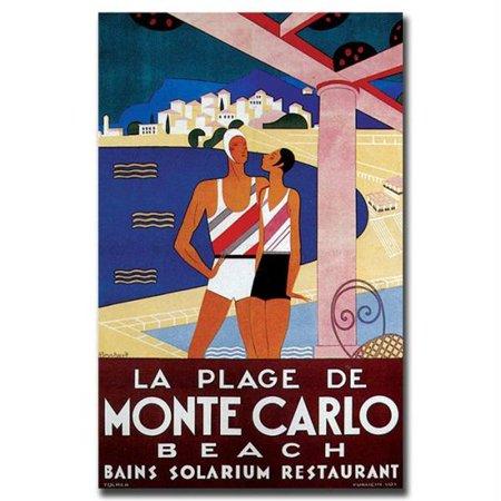 La Plage De Monte Carlo Beach By Phillipe Bouchard   18X24