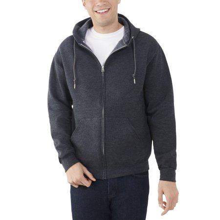 Fruit of the Loom Big Mens EverSoft Fleece Full Zip Hoodie Jacket