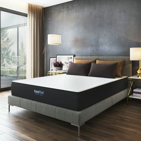 Modern Sleep 10.5-Inch Cool Gel Memory Foam Mattress, Queen