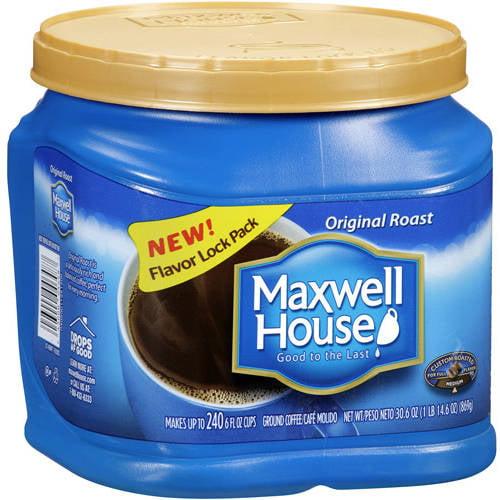 Maxwell House Original Roast Medium Ground Coffee, 30.6 oz