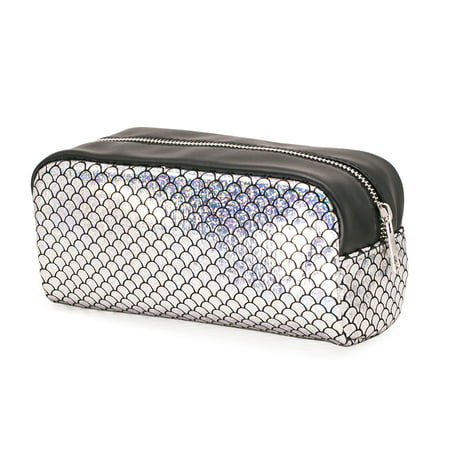 Fashion Women Makeup Bag Organizer Storage Bag Sparkling Fish Scales Pattern Zipper Case Cosmetic Bags Large Capacity](Halloween Makeup Fish Scales)
