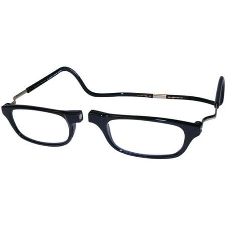 28ab356e3c33 CliC Reading Glasses- Expandable - Black - 3.50 - Walmart.com