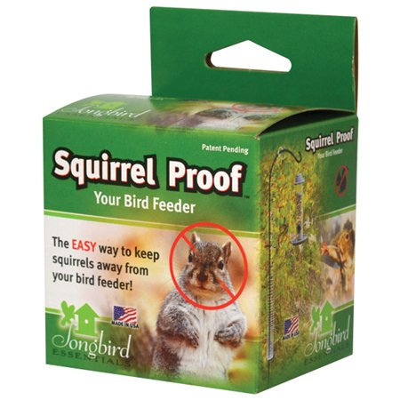 Squirrel Proof Spring Deters Climbing Rodents From Bird Feeder & House Poles ()