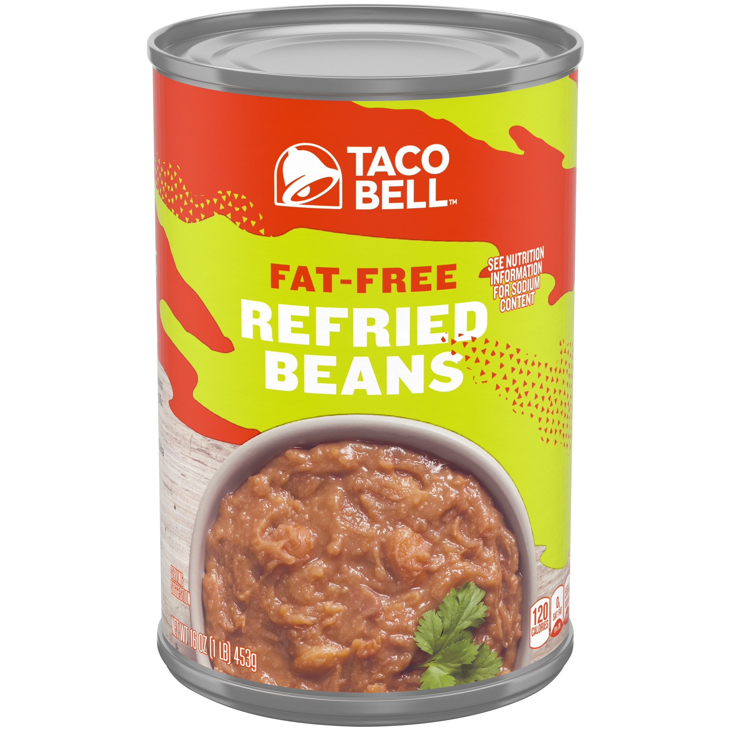 Taco Bell Fat-Free Refried Beans 16 oz. Can