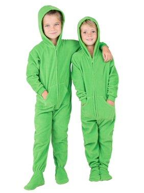 Footed Pajamas - Emerald Green Toddler Hoodie Fleece Onesie