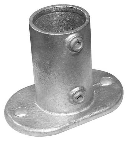 Railing Base Flange Structural Pipe Fitting, 30LX12
