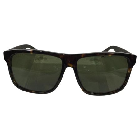 Gucci GG 0010SA 003 Avana Brown Green Red Plastic Sunglasses 59mm