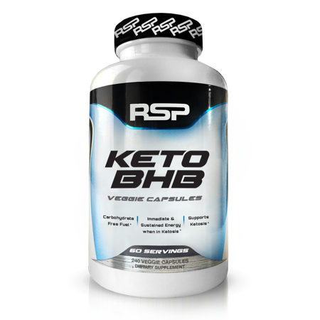 RSP Nutrition Keto BHB, Exogenous Ketones for Ketogenic Diet, Energy Boost, Focus, Vegan Friendly, 240 (Vegan Diet For A Week Weight Loss)