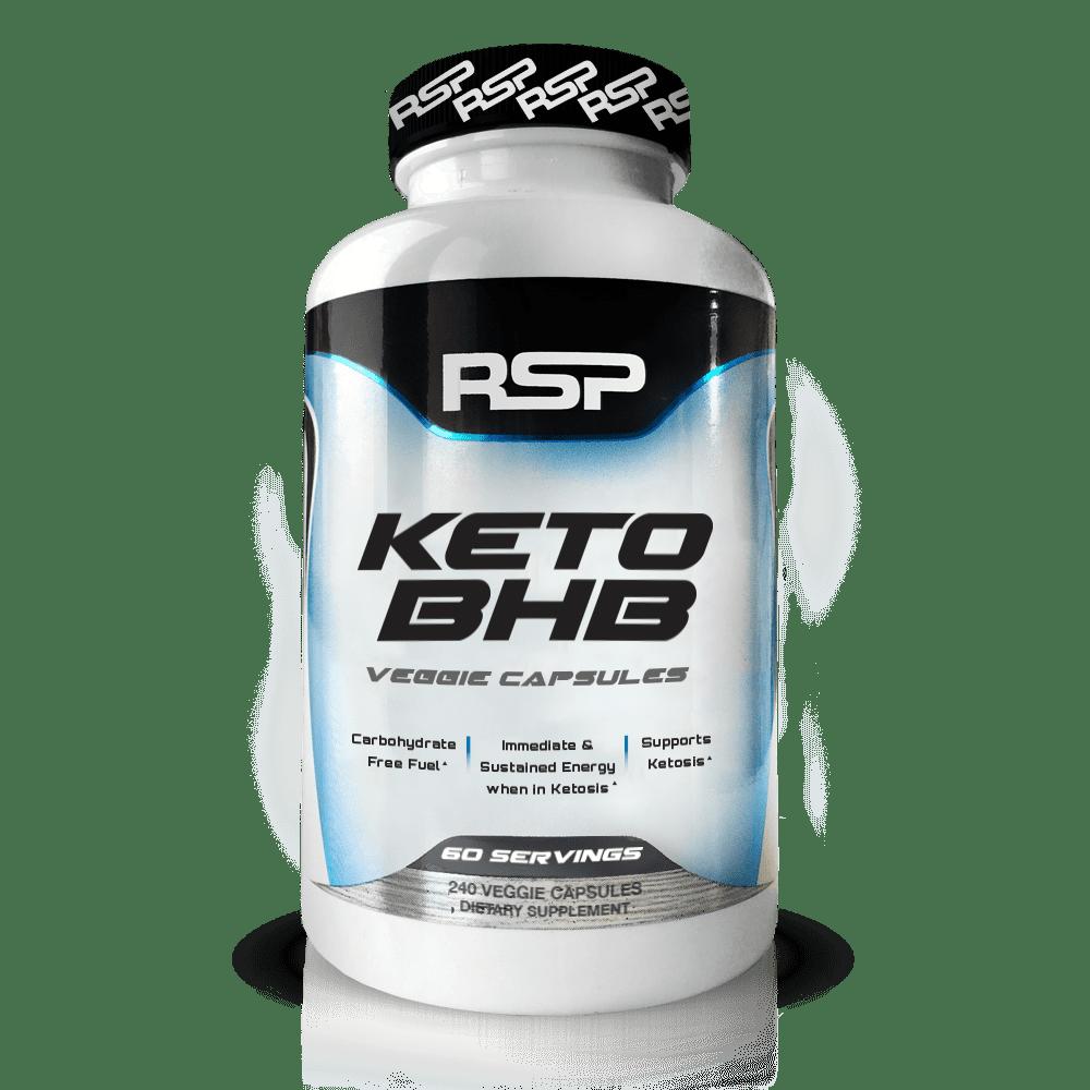 RSP Keto BHB Exogenous Ketones for Ketogenic Diet, Energy Boost, Focus, Vegan Friendly, 240 Ct