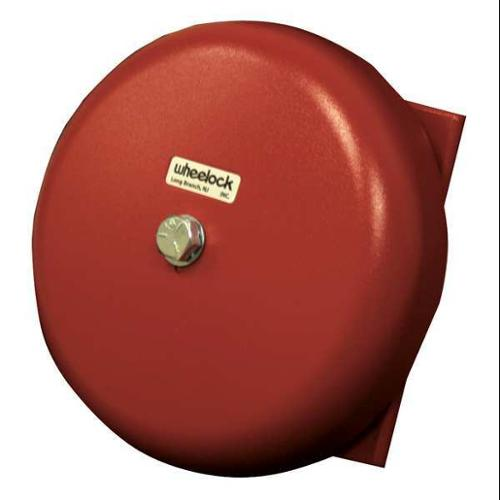 WHEELOCK CN121062 Bell, 24VAC, Red, 6 in. H