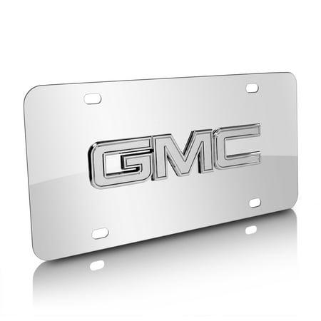 GMC Chrome Logo Chrome Stainless Steel License Plate