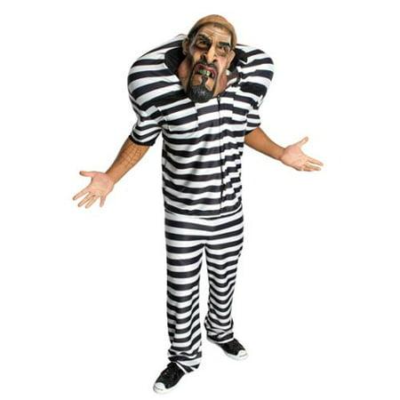 Big Bruizer Jail Bird Costume Adult - Jail Bird Costumes