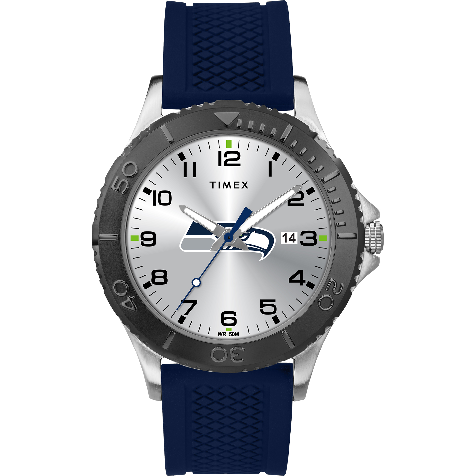Timex - NFL Tribute Collection Gamer Blue Men's Watch, Seattle Seahawks