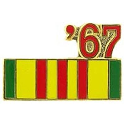 Vietnam Service Ribbon Pin (1967 VIETNAM SERVICE RIBBON LAPEL OR HAT PIN )