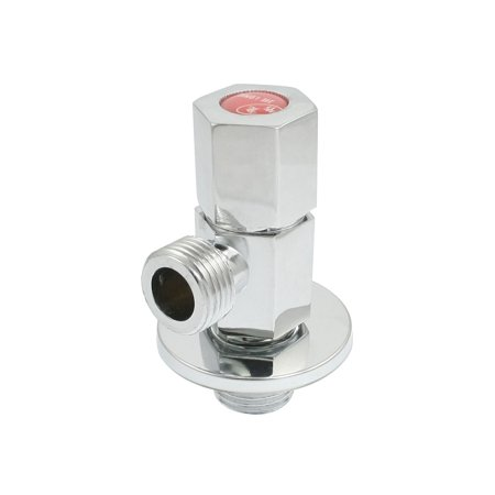 Unique Bargains Silver Tone Chrome Finish 1/4 Turn Angle Valve Faucet Water Diverter - image 1 of 1