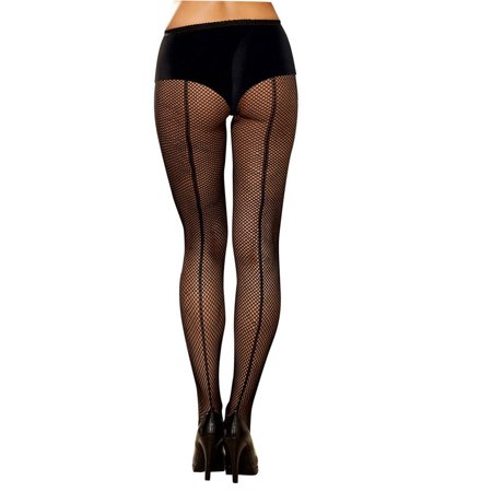 Dreamgirl Fishnet Pantyhose w/ Seam Women's Costume Accessory Classic Back Seam Fishnet