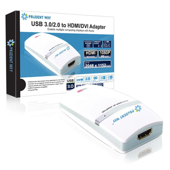 Prudent Way PWI-U3-H DA USB 3.0 & 2.0 DVI & HDMI Multiscreen Adapter