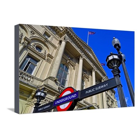 England, Central London, City of Westminster, West End. Piccadilly Circus Underground Station Stretched Canvas Print Wall Art By Pamela Amedzro