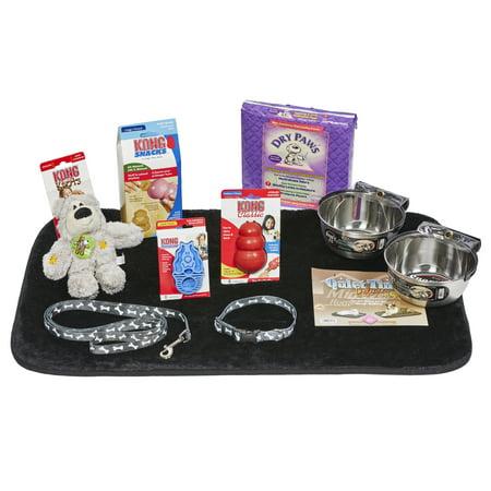 Puppy Starter Kit for Medium Dog Breeds, Kit includes: Kong Classic Toys & Treats | Coastal Dog Leash & Collar | MidWest Dog Bowls, Dog Bed & Training - Midwest Sheepskin Pad
