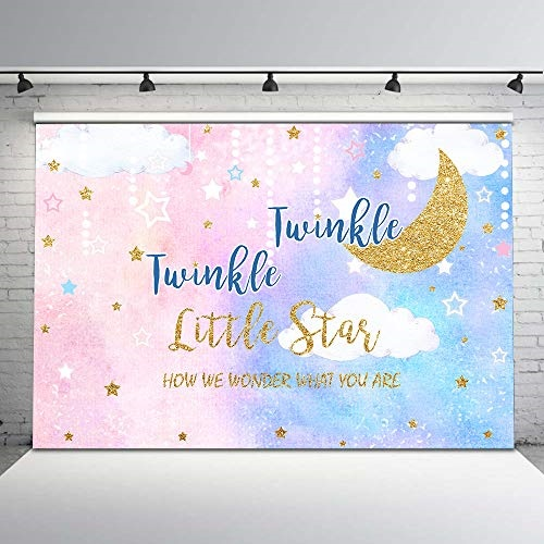 Twinkle Little Star Baby Boy Centerpiece with Stand OR Cutouts Blue Pajamas