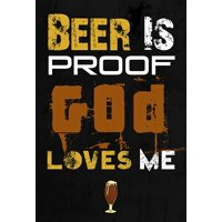 Beer Is Proof God Loves Me Print Beer Mug Picture Bar Wall Decoration Poster