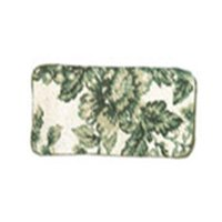 123 Creations C533EG-3.5x7 in. A-Toile- Green Needlepoint Eyeglasses Case