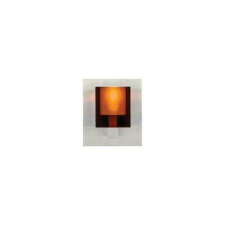 Tech Lighting 700WSCUBA Cube Geometric Shaped Amber Pressed Glass Wall Washer Sc