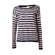 Maison Jules Women's Rhinestone Striped Cashmere Sweater