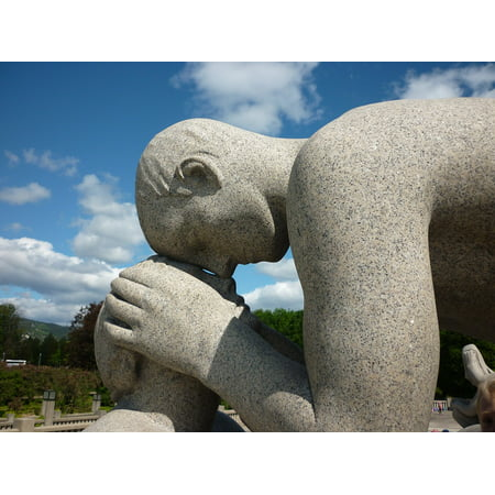 Framed Art For Your Wall Vigeland Oslo Sculpture Stone Figure Pair Tender 10x13 Frame