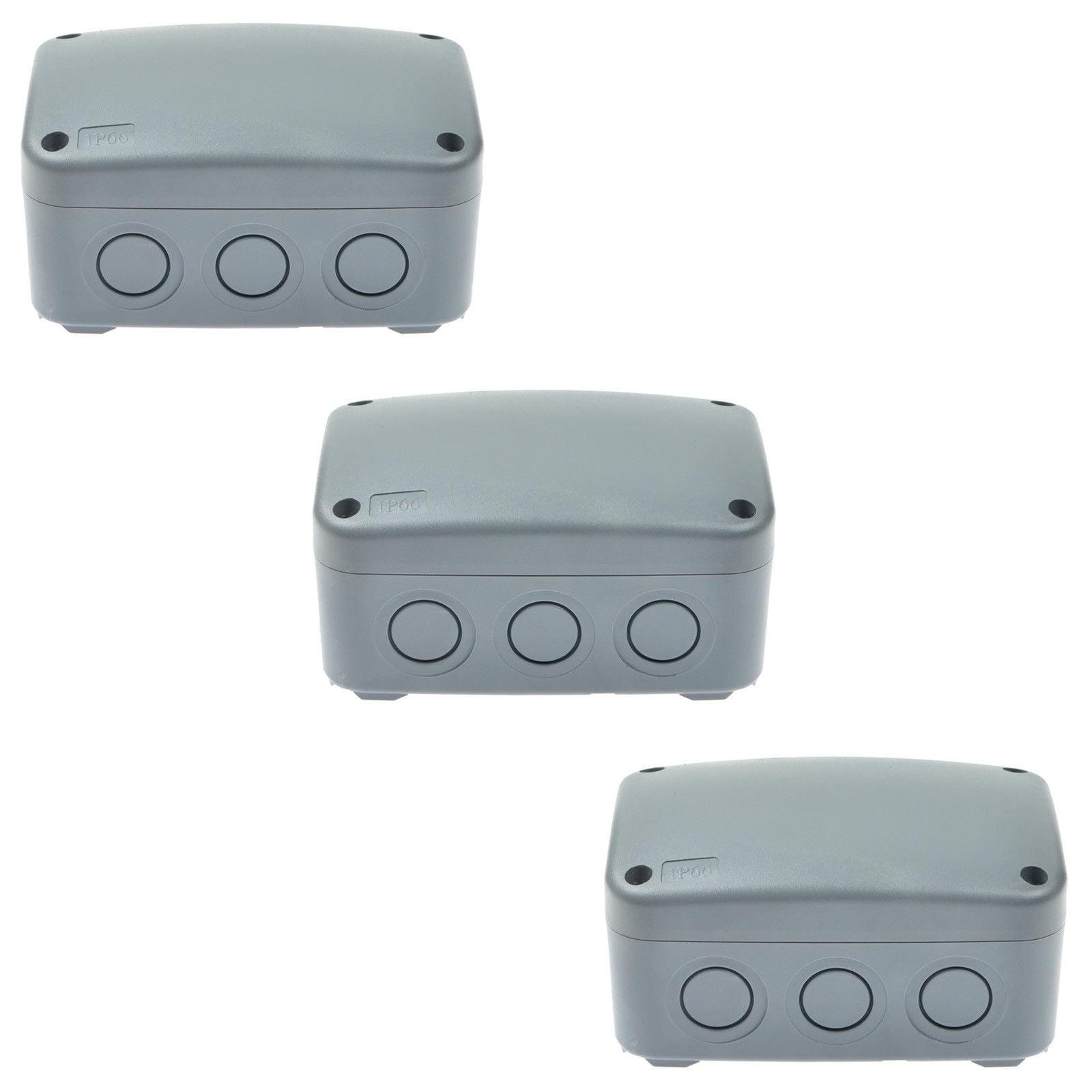 4 Packs IP66 Waterproof Enclosure Cable Case Power Junction Box 125 × 86 × 62mm