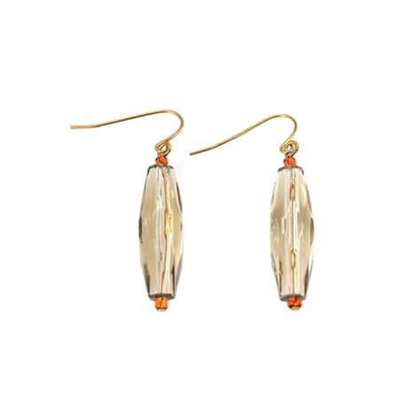 Alexa Starr Gold Tone Clear Linear Lucite Drop Earrings
