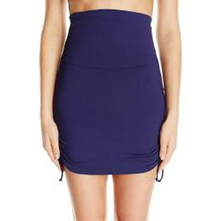 cdc1e8cc2ba4b Anne Cole - Anne Cole Women's Color Blast Solids Super High Waist Shape  Control Swim Skirt Bottom-M-AC16_Navy - Walmart.com