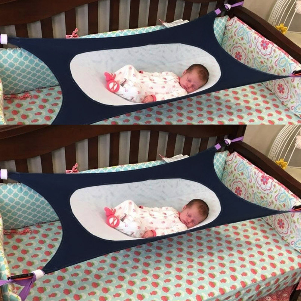 Womail Infant Safety Baby Hammock Print Newborn Children's Detachable Portable Bed