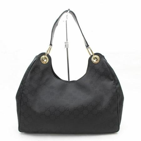0be88fd309e7 Gucci - PRE-OWNED Monogram Signature Gg Hobo 869479 Black Nylon ...