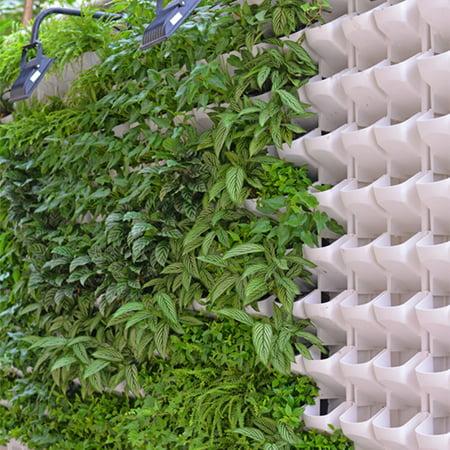 Kojooin 2 Pocket Mini Stackable Garden Vertical Planter All Season