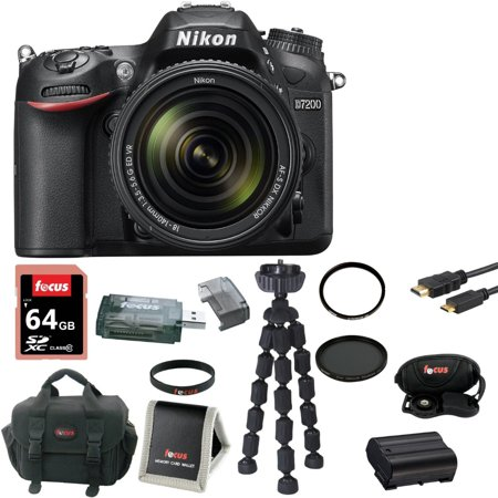 nikon d7200 digital slr with 18 140mm vr lens black. Black Bedroom Furniture Sets. Home Design Ideas