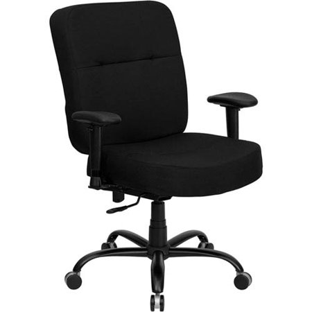 (Series 400 lb. Capacity Big and Tall Black Fabric Executive Swivel Office Chair with Extra WIDE Seat and Height)