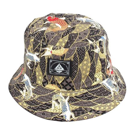 KABOER Newest Soft Embroidery Floral Double Side Summer Fishing Sun Bucket Hat For Man Women Outdoor Sports Hip Hop Cap (Embroidery Bucket Hat)