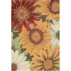 Nourison Fantasy Floral Images Sunflower Area Rug