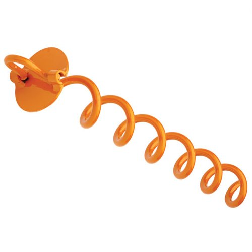 16-Inch Liberty Outdoor ANCFR16-ORG-A Folding Ring Spiral Ground Anchor Orange