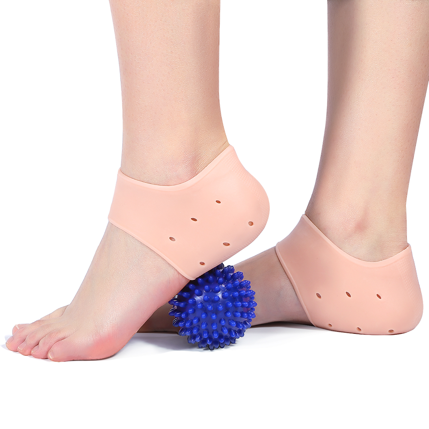 Dilwe 3/4 Arch Support Shoes Insole, Women 2-7.5 Shoes Size Ankle Gel Support Pain Relief Protective Silicone Plantar Fasciitis Heel Spur US