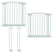 "Dreambaby White Chelsea 28""-35"" Pack (2 Baby Gates & 2 Extensions)"