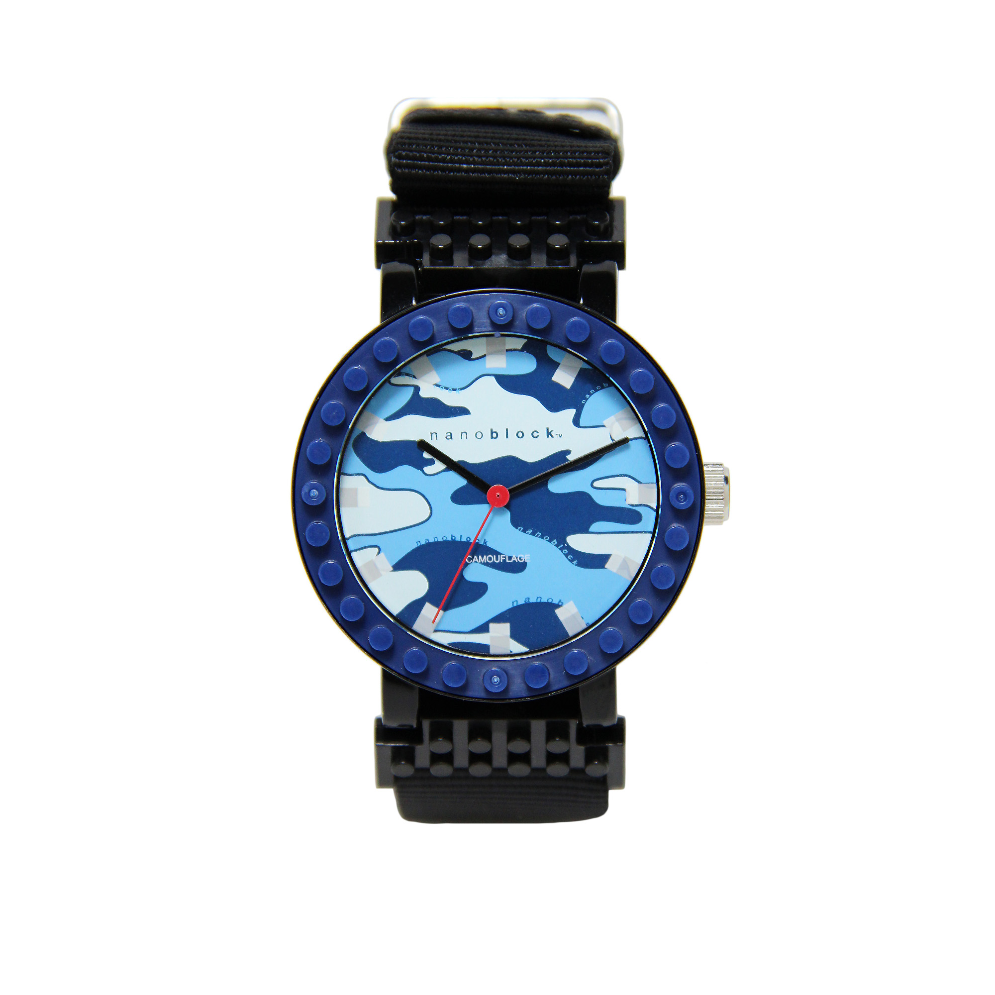 Nanoblocktime All Rounder Camo Watch, Blue and Black by Beta Enteprises Inc.
