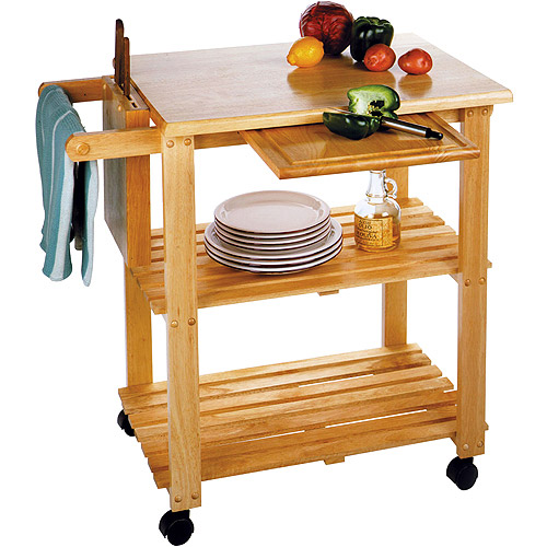 Kitchen Utility Cart, Solid Beechwood