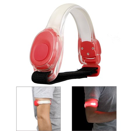 Running LED Night Light Sports Armband Reflective Adjustable Runners Belt Strap