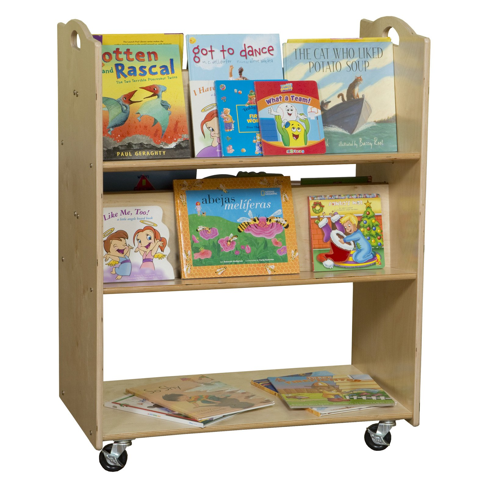 Wood Designs Contender Mobile Library Cart