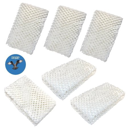 HQRP Wick Filter (6-pack) for IDYLIS 828413B002 Replacement fits IHUM-10-140 / I HUM 10 140 4-Gallon Whole-house Humidifier + HQRP Coaster ()